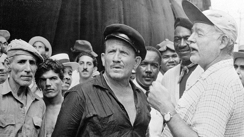 Tracy és Ernest Hemingway Az öreg halász és a tenger forgatásán Peruban