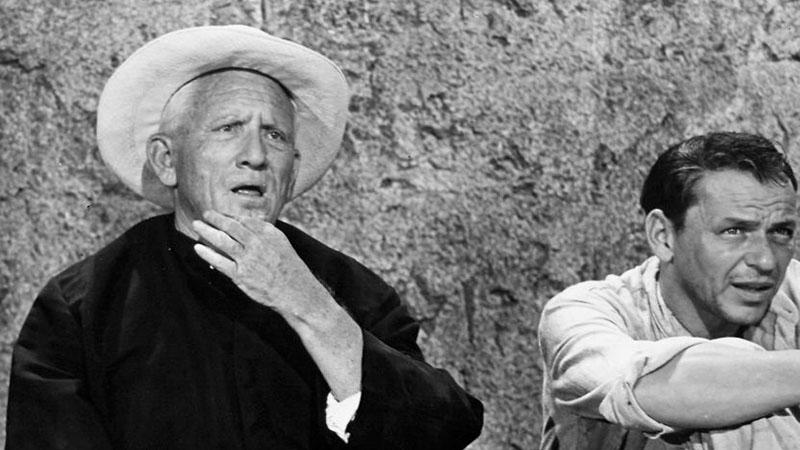 Tracy és Frank Sinatra a Találkozás az ördöggel című filmben