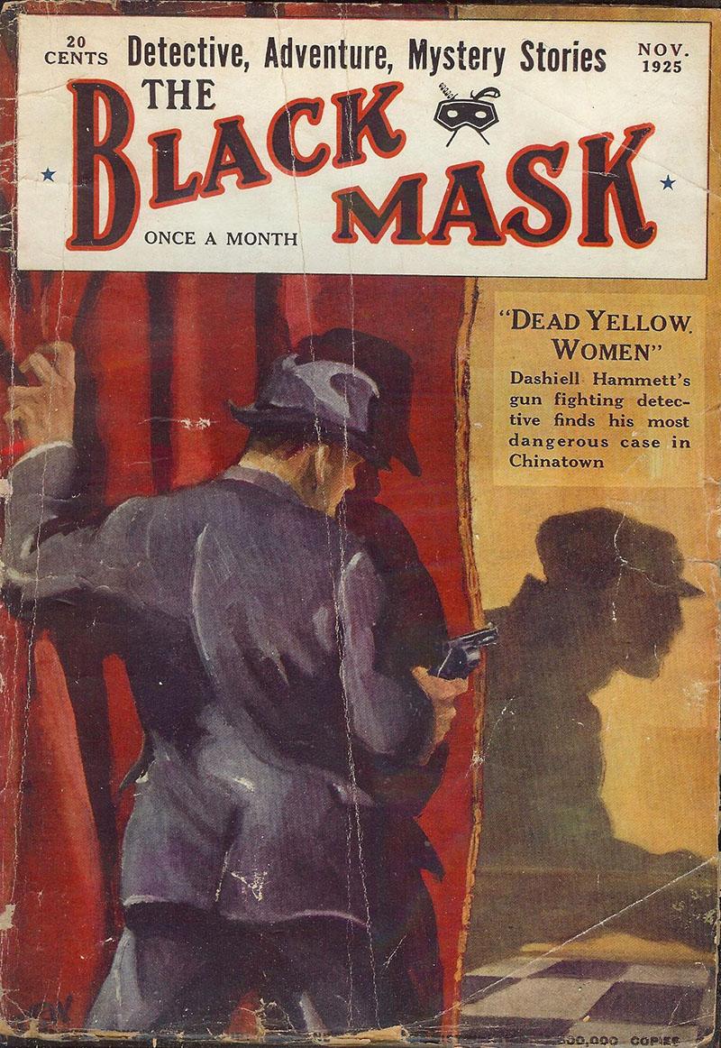 A világhírű Black Mask magazin, ahol először jelentek meg Hammett művei