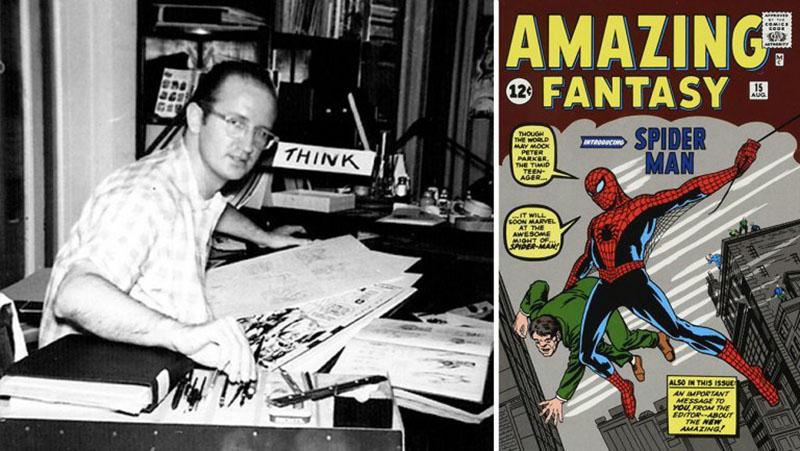 Steve Ditko és az első megjelenés az Amazing Fantasy-ben