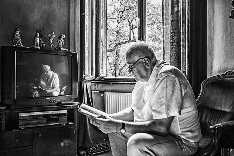 Rigó Béla otthonában