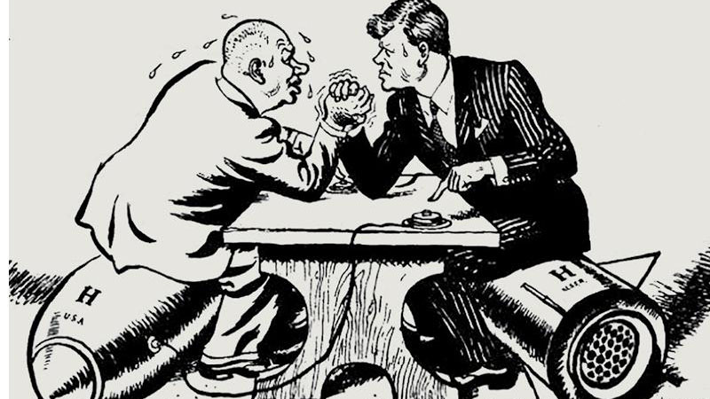 Karikatúrán a hidegháború