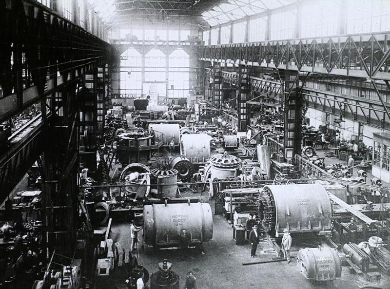 A Ganz gyár Kisrókus utcai csarnoka