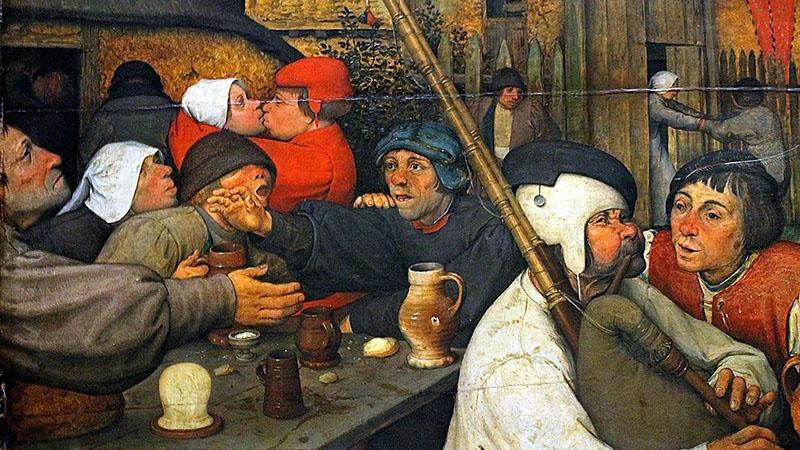 Kocsmai jelenet a középkorban