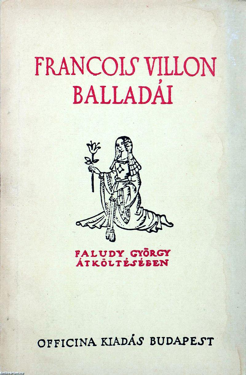 Faludy Villon-átköltéseinek 1947-es kiadása