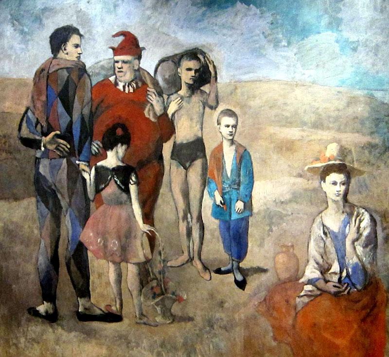Picasso: Harlekin család