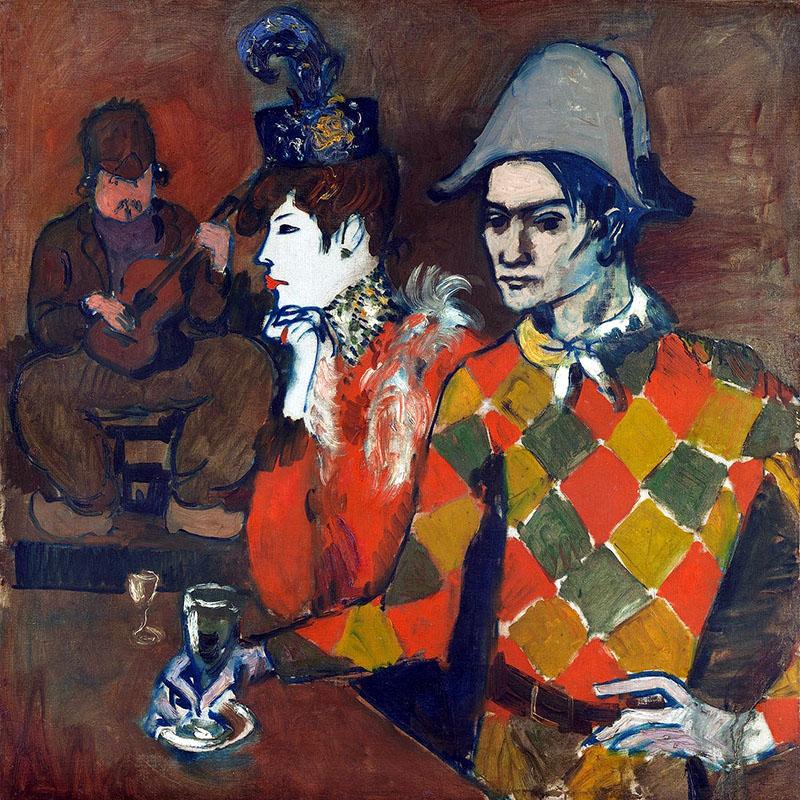 Picasso: Au Lapin Agile-ban avagy Harlekin pohárral