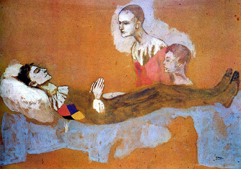 Picasso: Harlekin halála