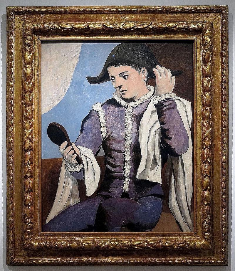 Picasso: Harlekin tükörrel