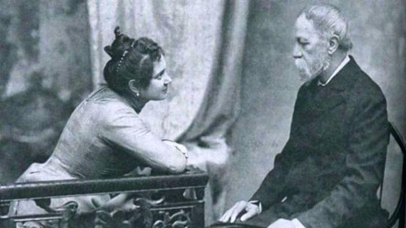 Jókai és fiatal felesége, Bella /Forrás: cultura.hu/