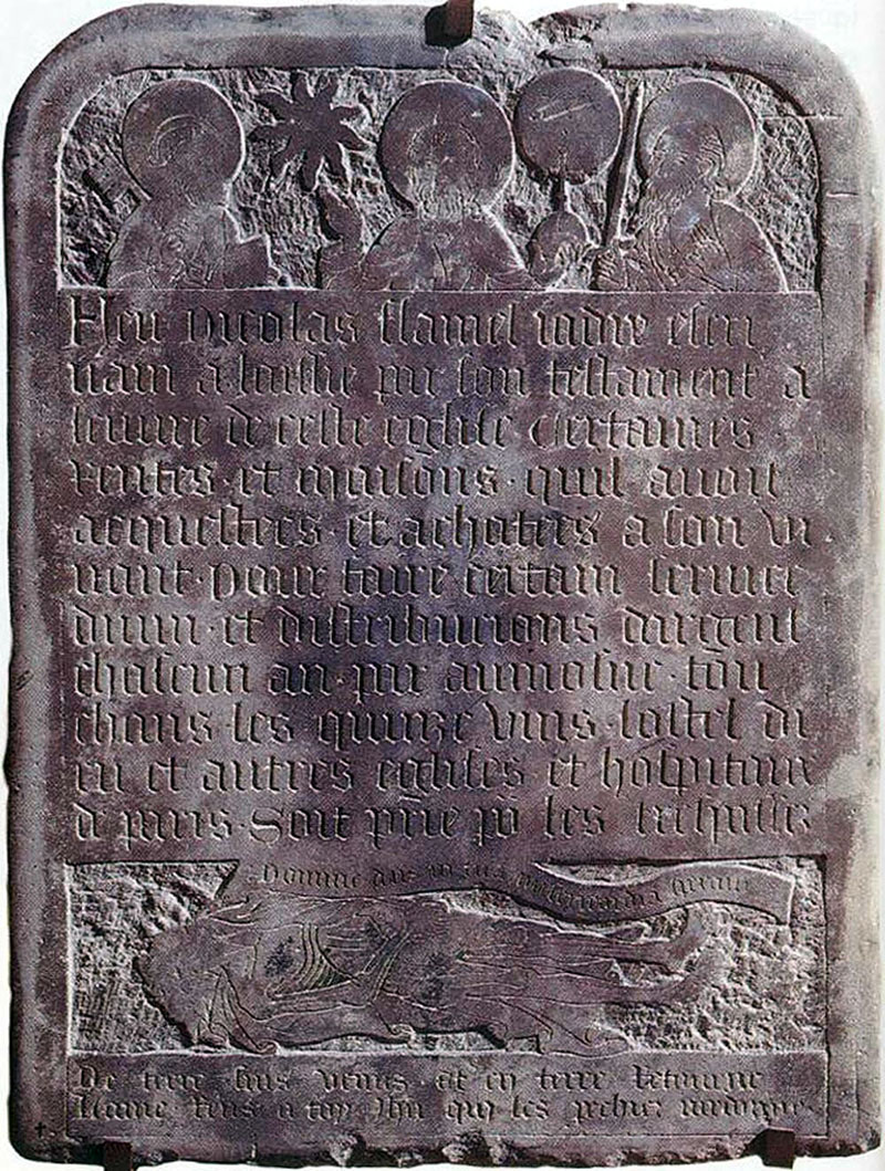 Nicolas Flamel sírköve