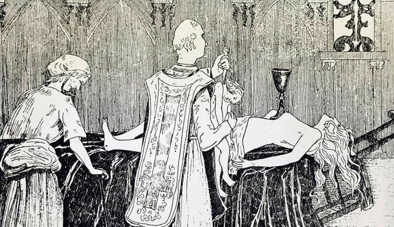 Madame de Montespan az ördögi szertartáson