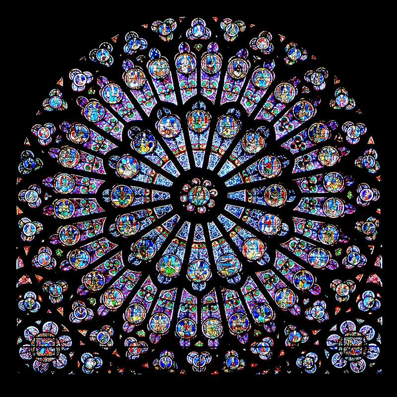 A Notre-Dame egyik ablakrózsája