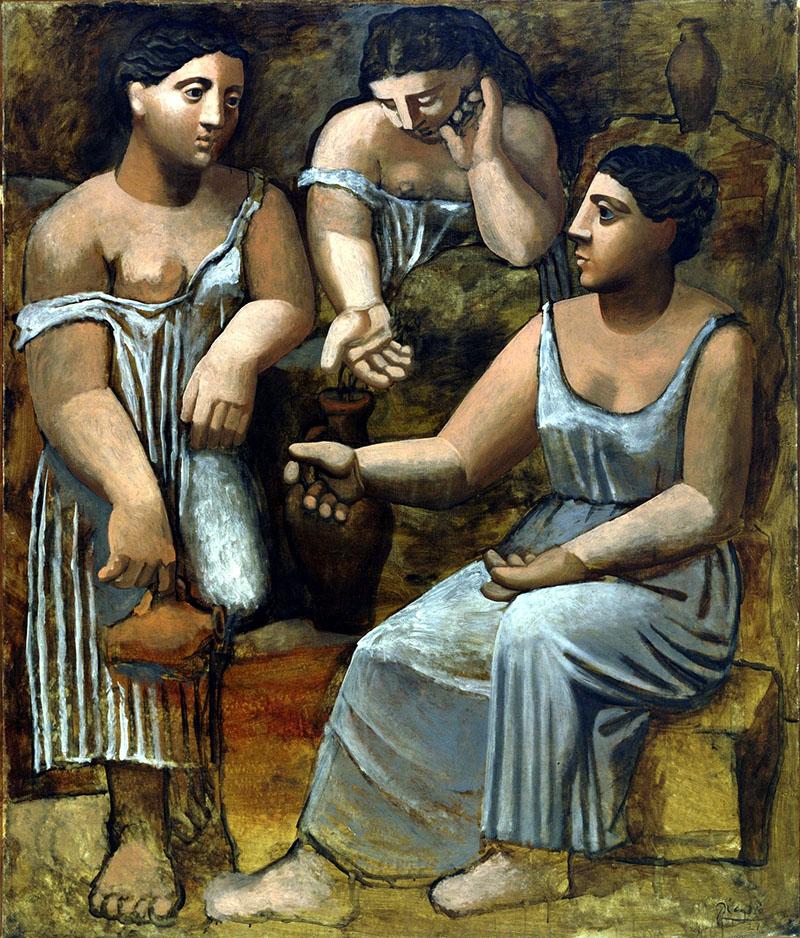 Három nő a szökőkútnál