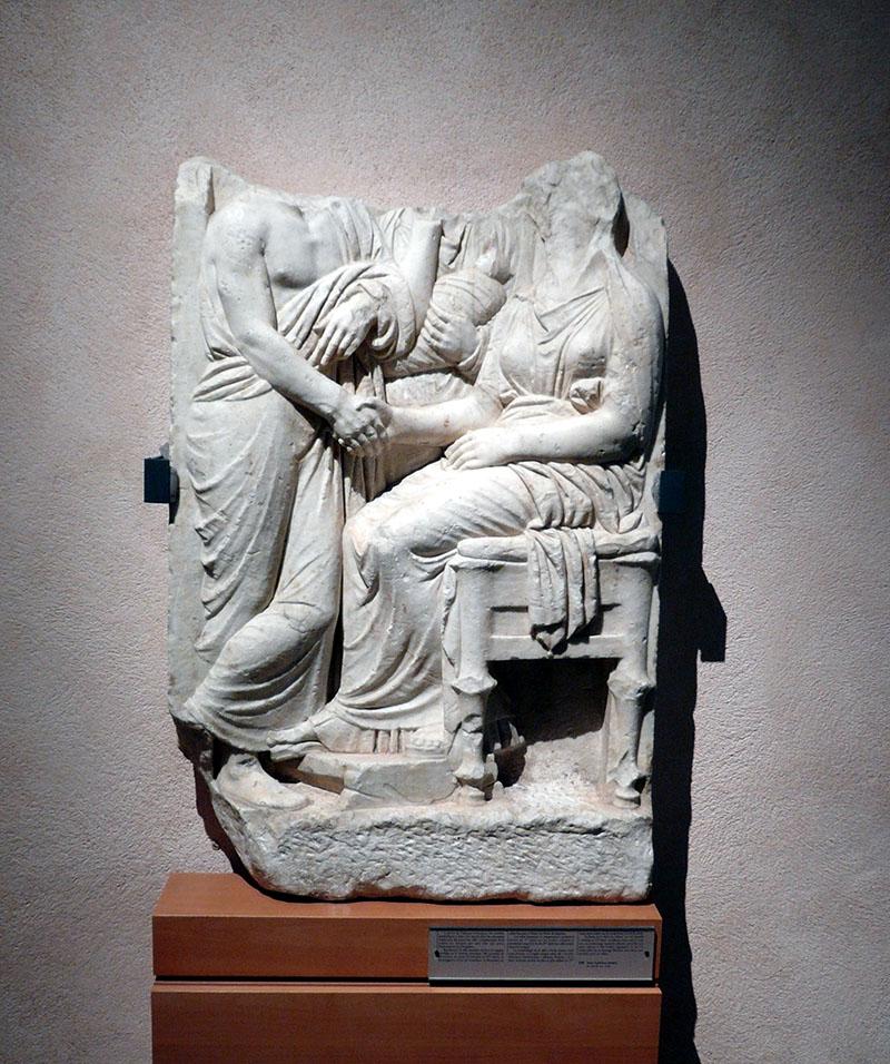 Attikai sírkő a 4. századból
