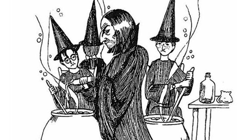 Az írónő rajza a Harry Potter első kötetéhez