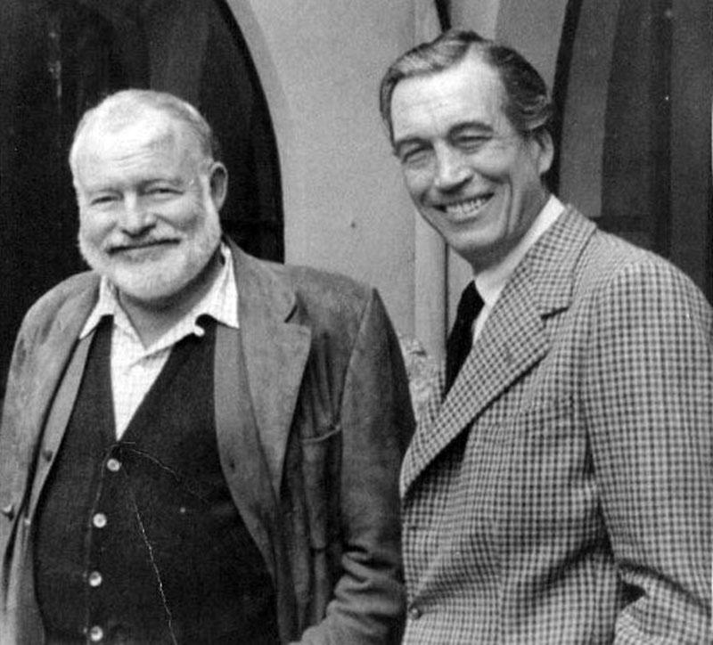Jóbarátjával, Ernest Hemingway-jel