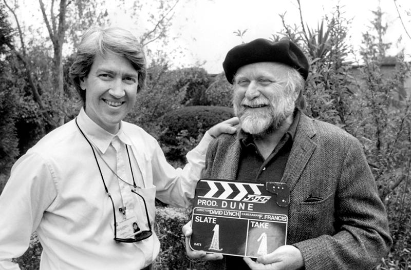 David Lynch és Frank Herbert a Dűne forgatásán