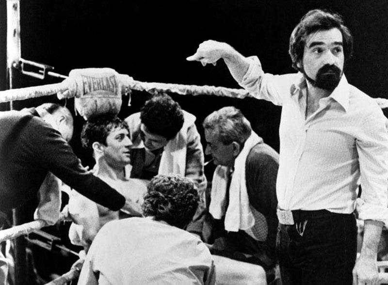 Robert de Niro és Martin Scorsese a Dühöngő bika forgatásán