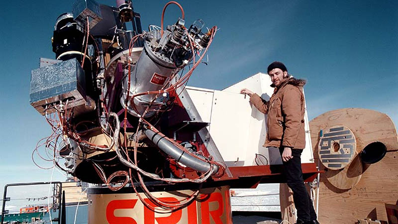 Rodney Marks második antarktiszi tartózkodása idején