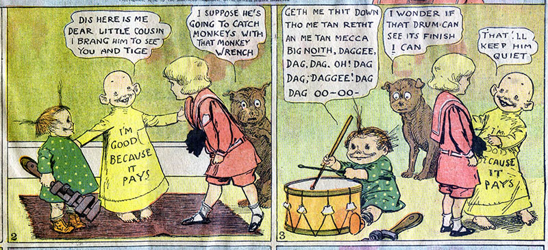 A Sárga kölyök története /Forrás: www.lambiek.net/