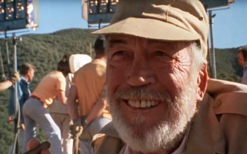 John Huston a forgatáson