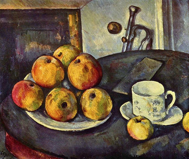 Paul Cézanne: Csendélet almákkal és bögrével