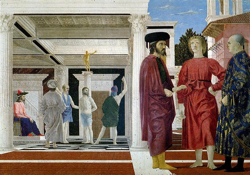 Piero della Francesca: Krisztus megkorbácsolása (1455-1460 körül)