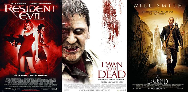Resident Evil - A kaptár, Holtak hajnala, Legenda vagyok