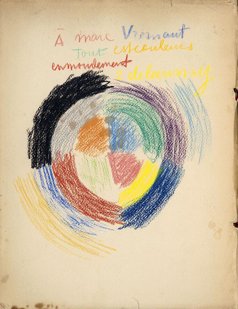 Egy lap a katalógusból Delaunay dedikálásával