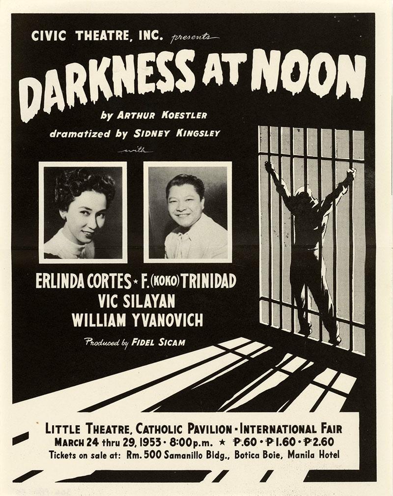 A regény első színpadi adaptációjának plakátja