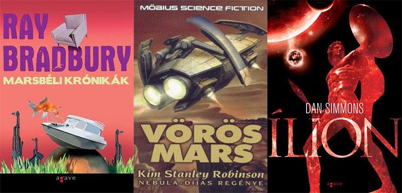 Csak néhány a Mars-tematikai sci-fijeiből