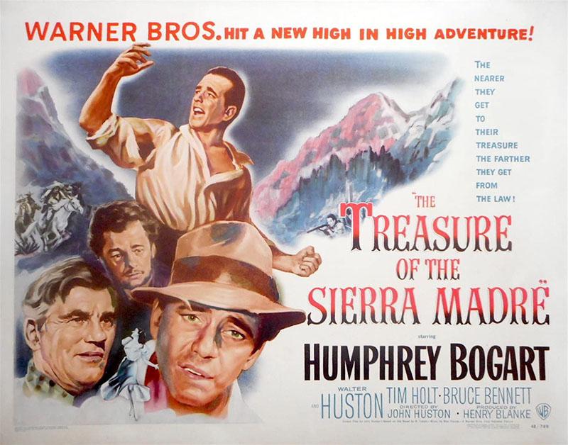 John Huston készített filmet A Sierra Madre kincséből
