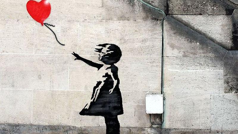 Banksy talán leghíresebb műve, amit azért egyetlen MI sem tud reprodukálni