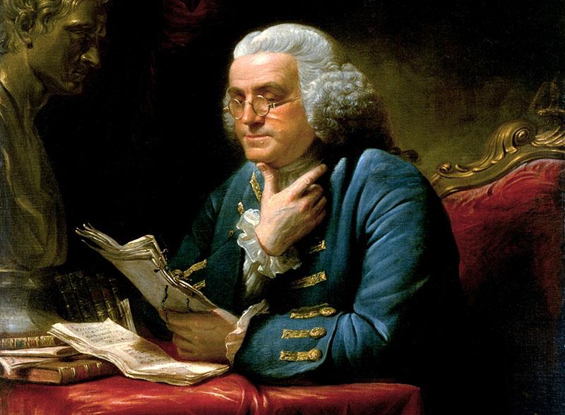 Kései portré Franklinről
