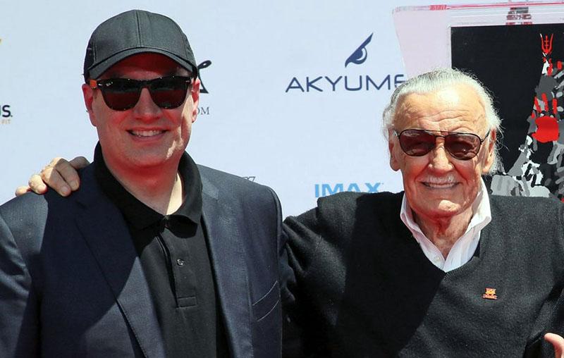 Kevin Fiege, a Marvel Studió feje és Stan Lee