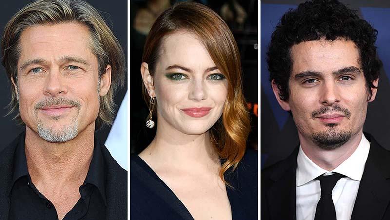 Brad Pitt, Emma Stone és Damien Chazalle együtt forgat