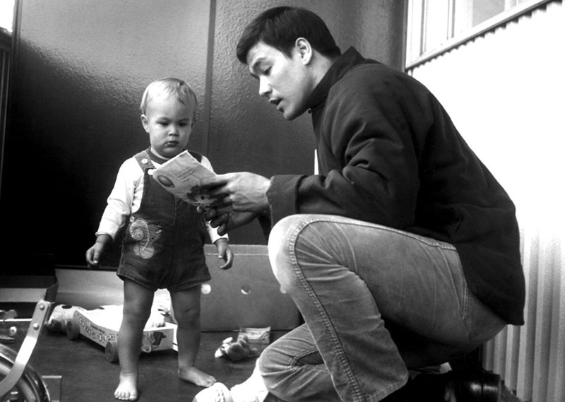 Bruce Lee és a kis Brandon