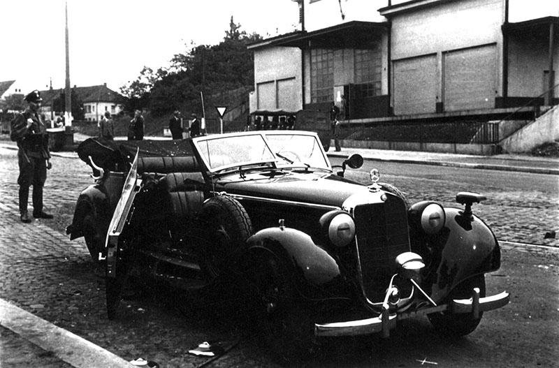 Heydrich autója, melyben végeztek a náci vezetővel