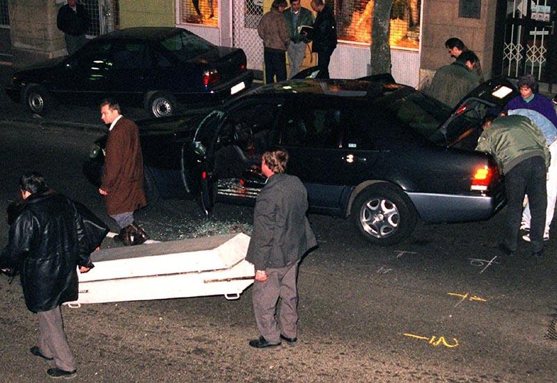 Fenyő János autója, melyben meggyilkolták a médiavállalkozót
