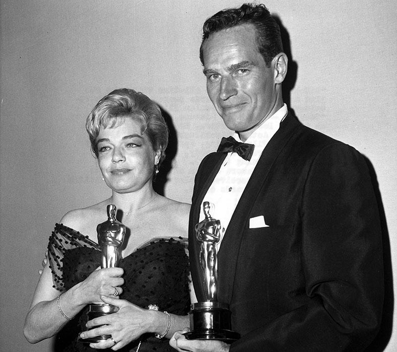 A Ben-Hur címszerepéért kapott Oscar-díjjal