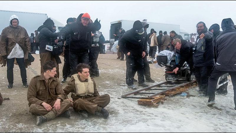 A Dunkirk forgatásán