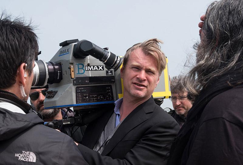 Christopher Nolan a Dunkirk forgatásán