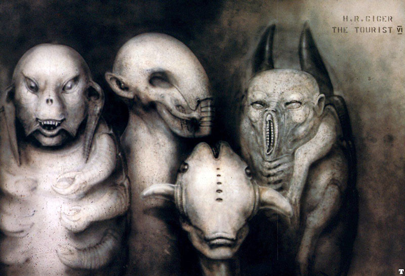 Az idegenek H. R. Giger ábrázolásában