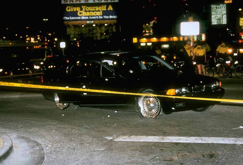 A producer kocsija a lövöldözést követően