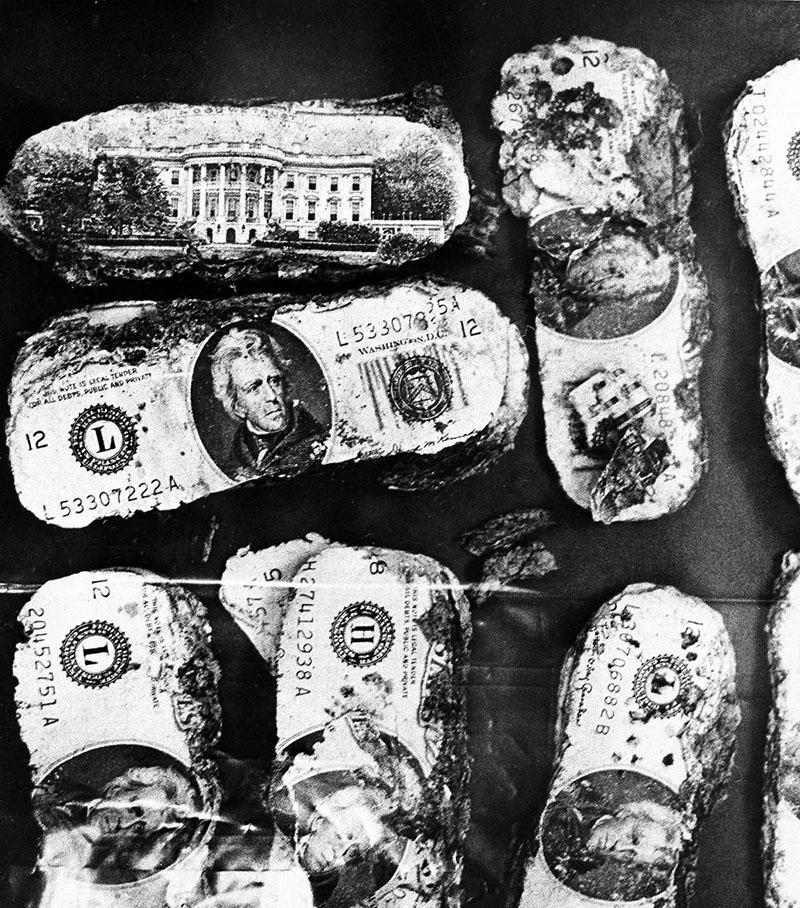 A megtalált bankjegyek