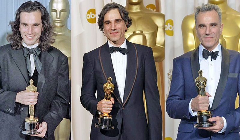 Egyedülálló módon három férfi főszereplői Oscar-díj 1989-ben, 2007-ben, és 2012-ben