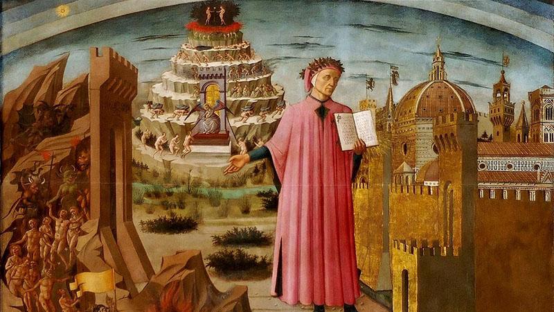 Dante Alighieri egy korabeli metszeten
