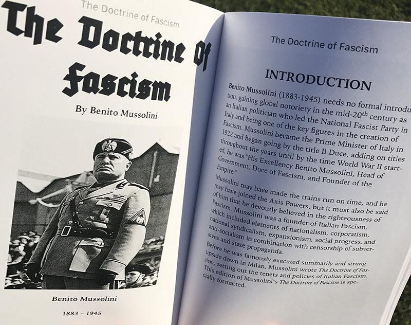 Benito Mussolini: A fasizmus doktrínája