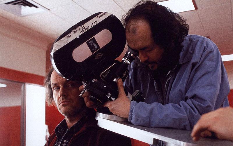 Kubrick és Jack Nicholson A ragyogás forgatásán